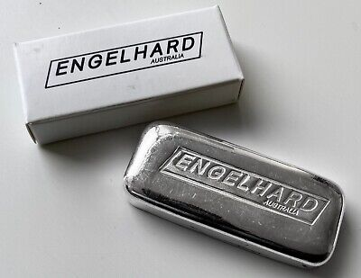 $ CDN229.95 • Buy Engelhard 5 Oz .999 Silver Poured Bar Australia - With Serial Number And Box