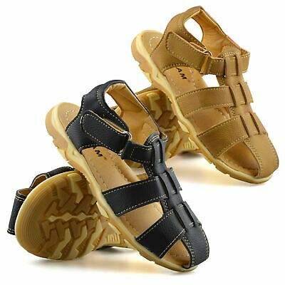 Boys Kids New Summer Beach Casual Touch Strap Walking Sports Sandals Shoes Size • 9.98£