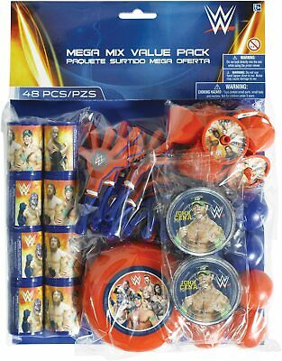 WWE World Wrestling Entertainment Birthday Party Toy 48 Pc. Value Favor Pack • 13.51£