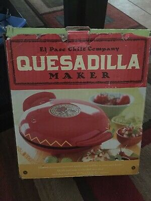 $60 • Buy New Open Box El Paso Chile Company Quesadilla Maker With Recipe Book Included