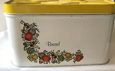 $29.99 • Buy Spice Of Life Metal Tin Bread Cookie Box ~ Corning Pattern   Collectible Vintage