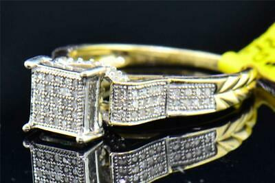 AU121.99 • Buy 14k Yellow Gold Over 1.7ct Round Cut Diamond Square Shape Bridal Engagement Ring
