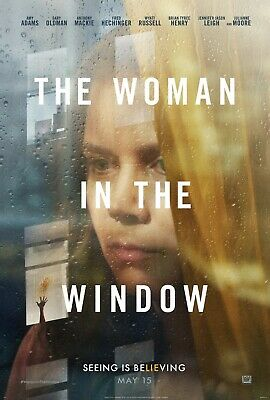 The Woman In The Window Movie Poster (24x36) - Amy Adams, Fred Hechinger, Mackie • 15.39£