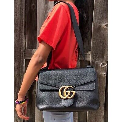 AU2800 • Buy Authentic Gucci GG Marmont Messenger Large Bag