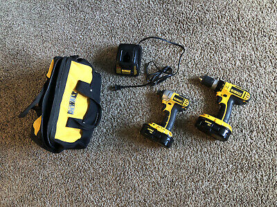 $125 • Buy Dewalt Drill And Impact Driver  With Charger And Storage Bag!!! Dc725 And Dc825