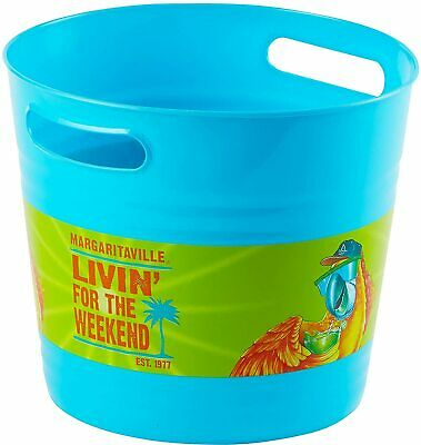 Margaritaville Summer Luau Cocktail Beach Theme Party Favor Plastic Ice Bucket • 9.81£