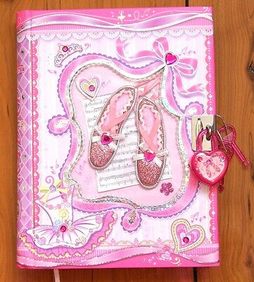 AU14.95 • Buy Girls Lockable Diary - Ballet Shoes Ballerina Journal Notebook With Lock NEW