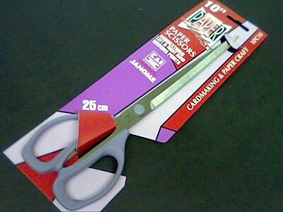 JANOME SCISSORS 10 -25cm CARDMAKING-PAPER CRAFT-ALL PURPOSE -WORLD RENOWN-XPC10 • 3.90£