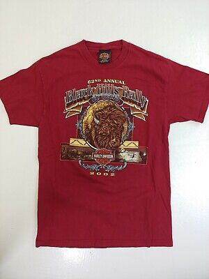 $ CDN39.99 • Buy Harley Davidson T-shirt Black Hills Rally Sturgis Med 2002 Bison Double Side VTG