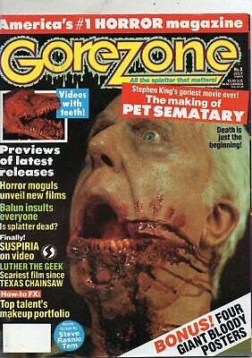 $3 • Buy GOREZONE # 8  JLY 1989  8.5  X 11   66 Pages