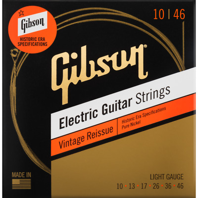 $ CDN13.99 • Buy Gibson Vintage Reissue Electric Guitar Strings - Light 10-46