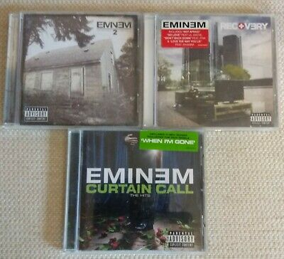 EMINEM - 3 CDs - CURTAIN CALL - RECOVERY - EMINEM 2 • 4.99£