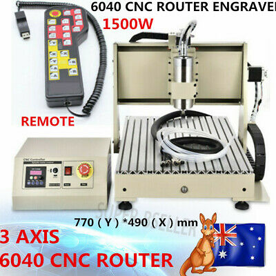 AU1234 • Buy 3 Axis 6040 Cnc Router Engraver Engraving Cutter Machine Carving + Remote 1500w