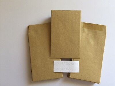 £2.49 • Buy 50 X Small Brown Manilla Dinner Money/wage/coin/seed Wedding Envelopes 90gsm