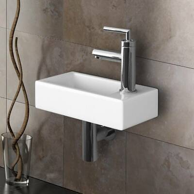 £31.99 • Buy RH TAP White Designed Cloakroom Hand Wash Basin Compact Ceramic Small White