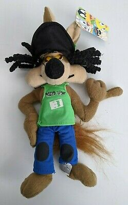 Vintage Looney Tunes Road Runner Wiley Coyote Rasta Plush Soft Toy  With Tags • 19.99£