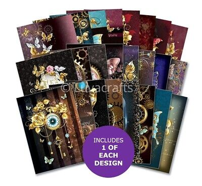 Hunkydory The Little Book Of Midnight Butterflies Sample Pack 24 Sheets X A6 • 2.99£