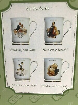 $ CDN44.82 • Buy NORMAN ROCKWELL GALLERY Mugs THE SATURDAY EVENING POST Set Of 4