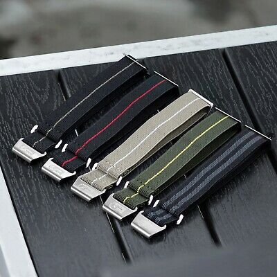 $29.99 • Buy B & R Bands Military Elastic Parachute Style Watch Band Straps 20mm 22mm