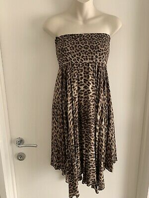 AU12 • Buy FOREVER NEW Strapless Animal Print Dress Size 6 NEW WITH TAGS