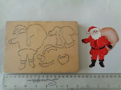 Rare Cross Cuts Build A Father Christmas/Santa - Wooden Craft Die Cutter   • 30£