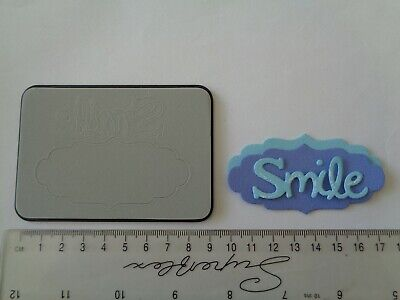 Sizzix Sizzlits Phrase Smile Word With Label Frame - Craft Die Cutter  • 3.50£