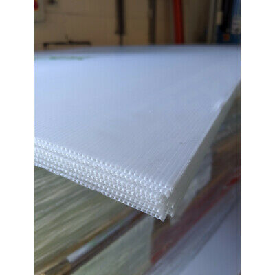£59 • Buy Pack Of 10 - 2mm Correx Corrugated Plastic Sheets Translucent - 2440 X 1220mm