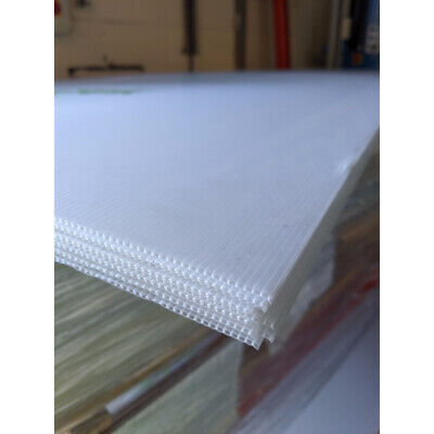 £69 • Buy Pack Of 10 - 3mm Correx Corrugated Plastic Sheets Translucent - 2440 X 1220mm