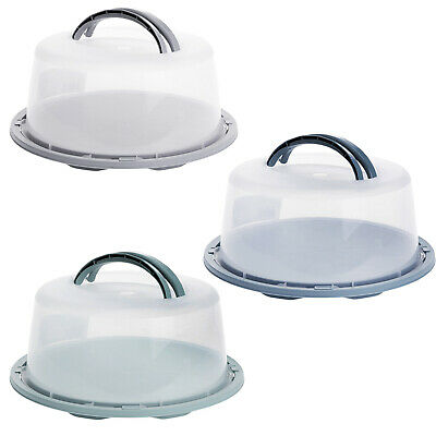 £6.99 • Buy Cake Carrier Dome Cover Large Plastic Dessert Lockable Lid Cheese Plate Sealed