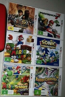 AU41 • Buy Nintendo 3DS Games X6 Mario Kart. Super Mario 3D Land. Sonic. Mario Tennis +more