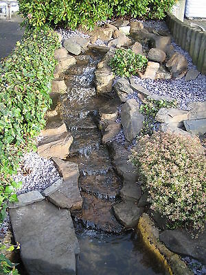Pre-Formed Waterfall Feature, 'The Rapids', 3 Piece Garden Stream - 2250mm Long • 509£