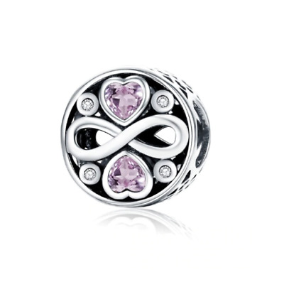 AU26.99 • Buy SOLID Sterling Silver Sparkling Infinity Love Forever Charm By Pandora's Wish