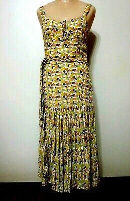 $20 • Buy Vintage Style Summer Cotton Day Dress By FRENCH CONNECTION 1920s Flapper Size 6