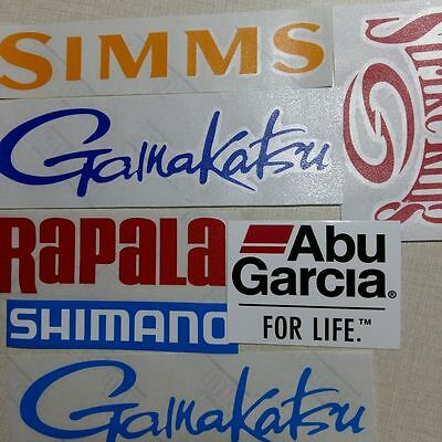 $8.99 • Buy LOT Of (7) Fishing Decals Fishing Stickers For Brand Lovers