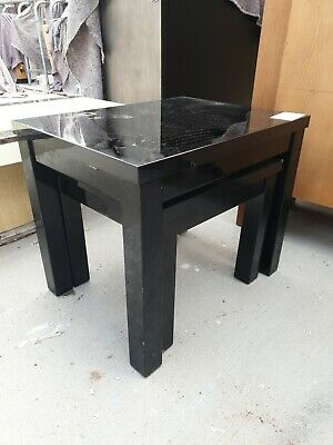Black Ebony Nest Of 2 Tables • 30£