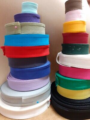 Cotton Bias Binding Tape 1  (25mm) Lots Of Colours 2m, 5m 10m • 1.80£