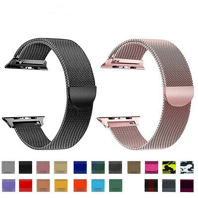 $ CDN6.69 • Buy For Apple Watch Series 5 4 3 2 1 Milanese Stainless Steel IWatch Band Loop Strap