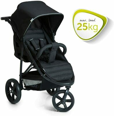 New Hauck Rapid 3 Wheeler One Handfold Pushchair Buggy Black Pram+Raincover • 129.99£