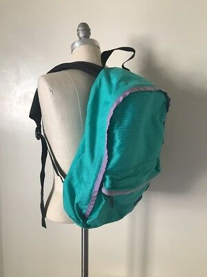 $19.99 • Buy Vintage Purple Label The North Face Nylon Backpack Teal Green