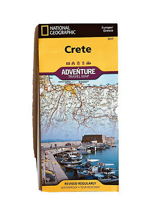 National Geographic Island Of Crete Greece Europe Adventure Travel Road Map 3317 • 7.71£