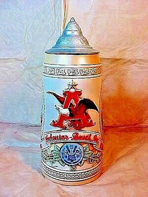 $ CDN26.61 • Buy Budweiser Beer Stein Series  H  TRANSPORTATION VIA RAIL DEPOT, SHIP. WITH LID