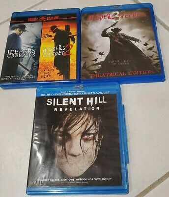 $40 • Buy Jeepers Creepers 1 + 2  + 3 - Trilogy  (3) Blu Ray Collection Lot+ Silent Hell