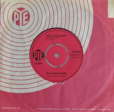 THE HONEYCOMBS - HAVE I THE RIGHT? B/w PLEASE DON'T PRETEND AGAIN 45 PYE 1964 • 2.50£