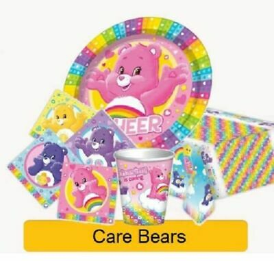 CARE BEARS 1st Birthday Party Supplies Tableware Decorations Plates Cups Balloon • 4.99£