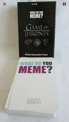 AU21.95 • Buy What Do You Meme? Game Of Thrones Expansion Pack 75 Cards BNIB