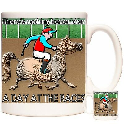 £12.99 • Buy HORSE RACING Gift Coffee Mug / Tea Cup. Kazmugz Exclusive There's Nothing Better