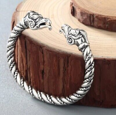 Celtic Viking Silver Bracelet Dragon Snake Norse Myth Animal Knot Wrist Ankle • 4.89£