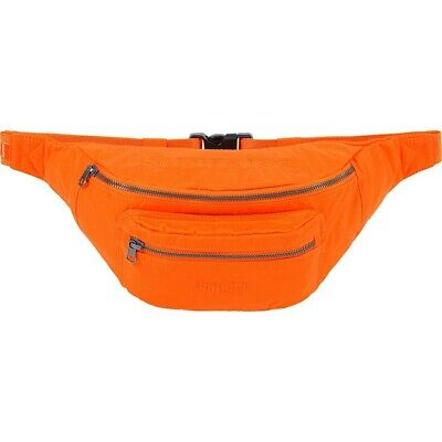 $ CDN170.11 • Buy Supreme X Barbour Waxed Cotton Waist Bag Orange S/S 20 Week 11