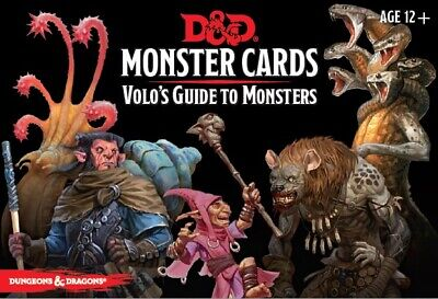 AU29.95 • Buy D&D Spellbook Cards: Volo's Guide To Monsters