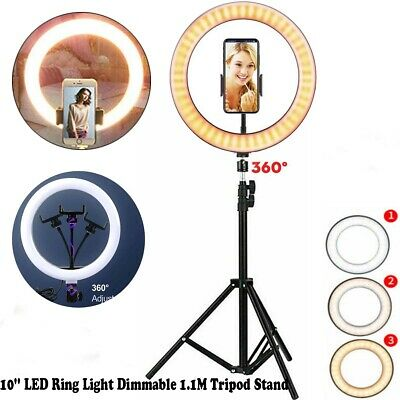 AU20.66 • Buy 10'' LED Ring Light Dimmable Tripod & Stand For Youtube Live Selfie Video Makeup